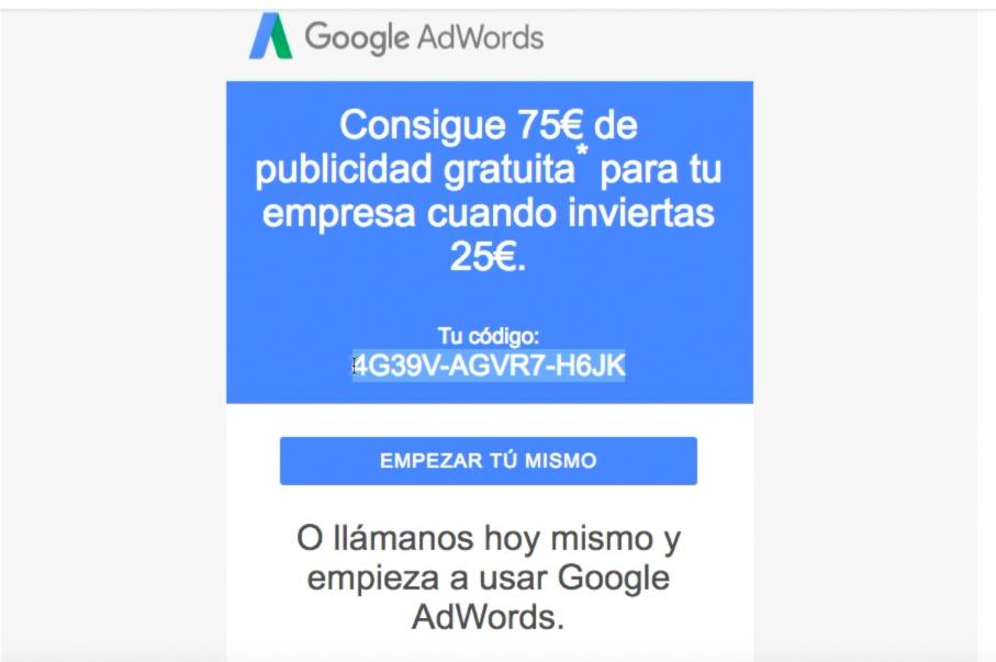 Correo Adwords